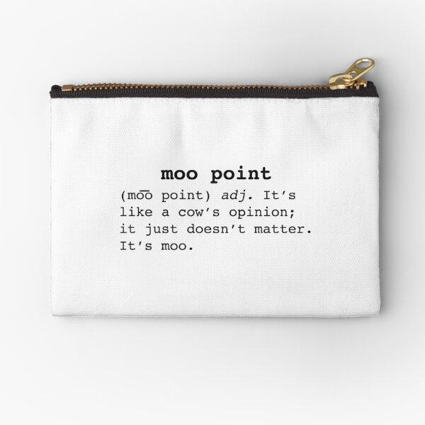 Moo Point Zipper Pouch