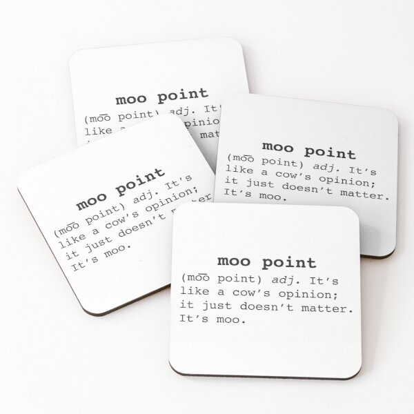 Moo Point Coasters (Set of 4)