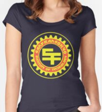 San Fransokyo Institute of Technology (Text) Women's Fitted Scoop T-Shirt