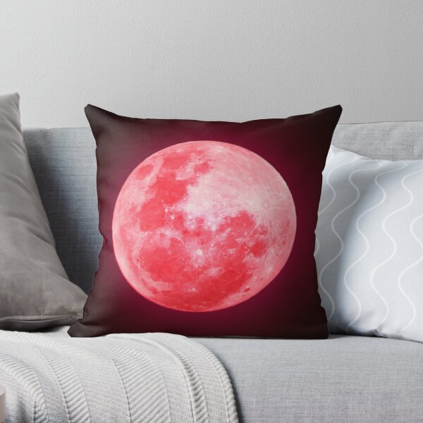 No Life Moon Throw Pillow