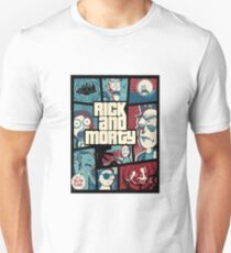 Rick and Morty GTA cover T-Shirt