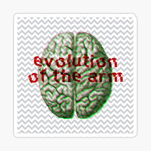 Evolution of the arm - Noise / Glitch Band  Sticker
