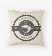 Cafe Musain (6) Throw Pillow
