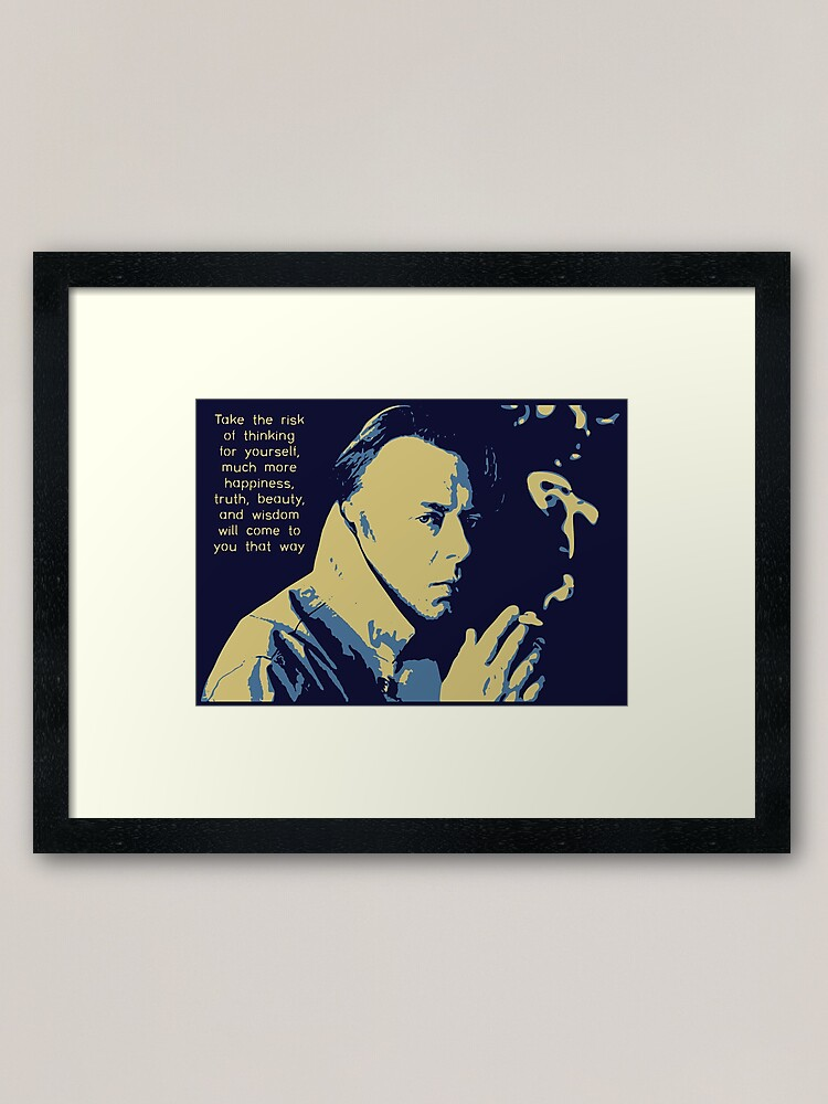 Alternate view of Christopher Hitchens Quote Framed Art Print