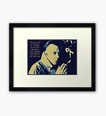 Christopher Hitchens Quote Framed Print