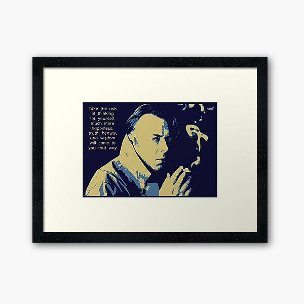 Christopher Hitchens Quote Framed Art Print