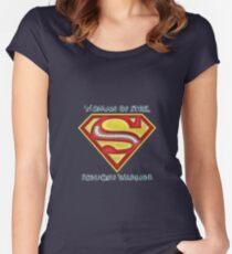 Frau aus Stahl - Skoliose Bewusstsein Tailliertes Rundhals-Shirt