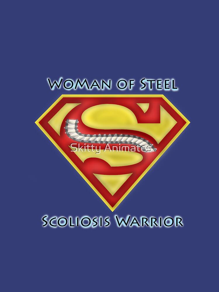 Woman of Steel - Scoliosis Awareness | Women's T-Shirt