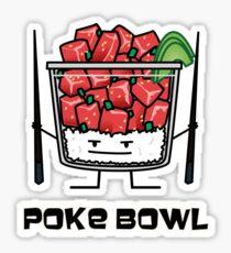 Poke bowl Hawaii raw fish salad chopsticks aku Sticker