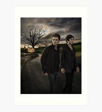 Damon and Stefan - The Vampire Diaries - Season 7 - Promotional Poster  Art Print