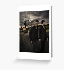 Damon and Stefan - The Vampire Diaries - Season 7 - Promotional Poster  Greeting Card