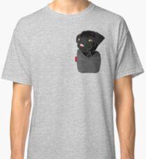 Camiseta clásica Black Pug FU Pocket
