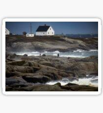 Out on the Rocks, Peggy's Cove, Nova Scotia Sticker
