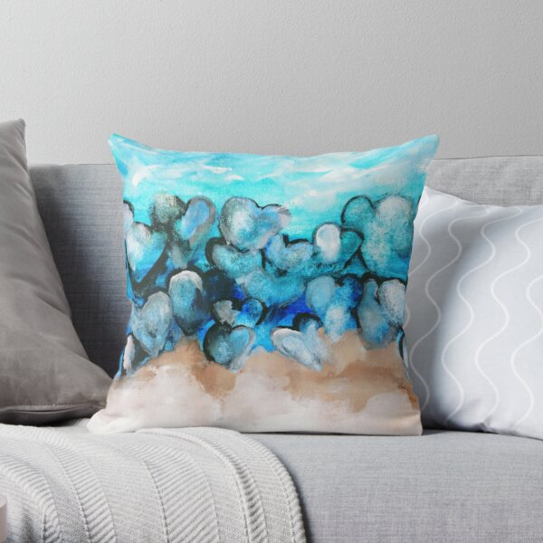 Beach Rocks Of The Cape Throw Pillow