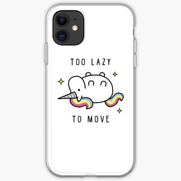 Trop paresseux pour déplacer la licorne T-shirt Coque souple iPhone