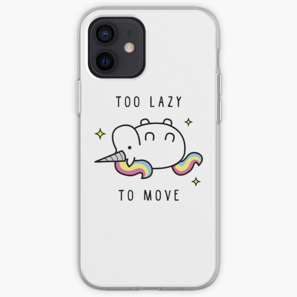 Too Lazy To Move Unicorn T-Shirt iPhone Soft Case