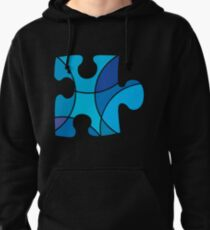 Blue puzzle piece Pullover Hoodie