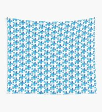 Blue puzzle piece Wall Tapestry