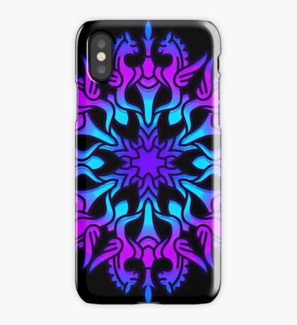 Mandala with winged horses iPhone Case/Skin