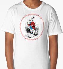 Alice in Wonderland | White Rabbit checking his Watch Long T-Shirt