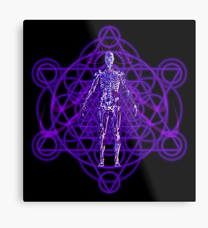 Sacred Geometry and the Human Body Metal Print