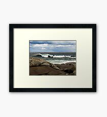 Breakers, Peggy's Cove, Nova Scotia Framed Print