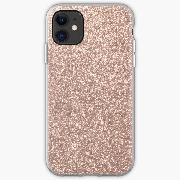 Pink Rose Gold Metallic Glitter iPhone Soft Case