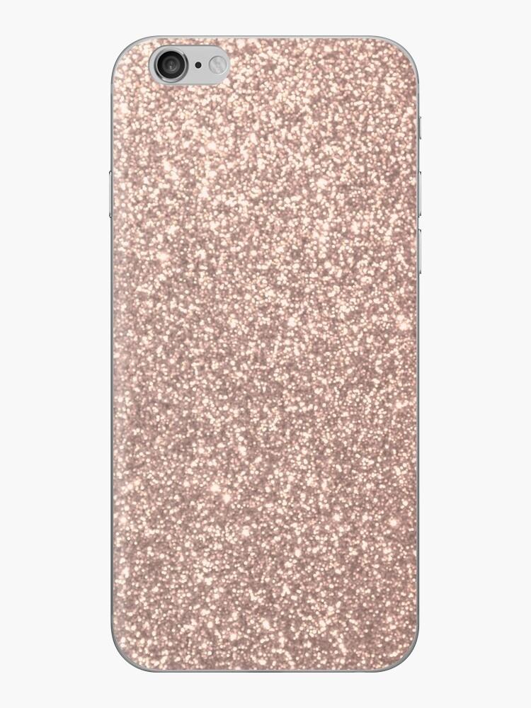 Pink Rose Gold Metallic Glitter by podartist