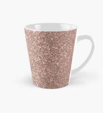Rosa Rose Gold Metallic Glitter Tasse (konisch)