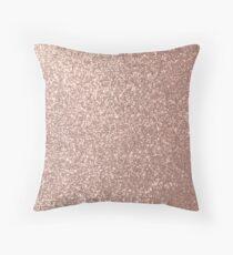 Rosa Rose Gold Metallic Glitter Dekokissen