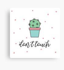 Don't touch Cactus Flower Summer Pastel Color Canvas Print
