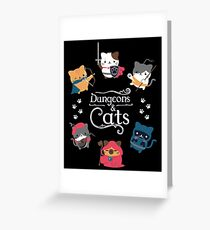 Dungeons & Cats Greeting Card