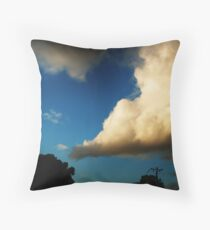 i love big clouds Throw Pillow