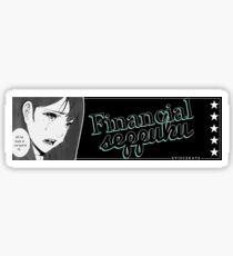 Financial Suicide - Eviscerate Sticker