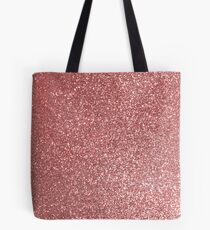 Blush Gold Rose Pink Shimmery Glitter Tote Bag
