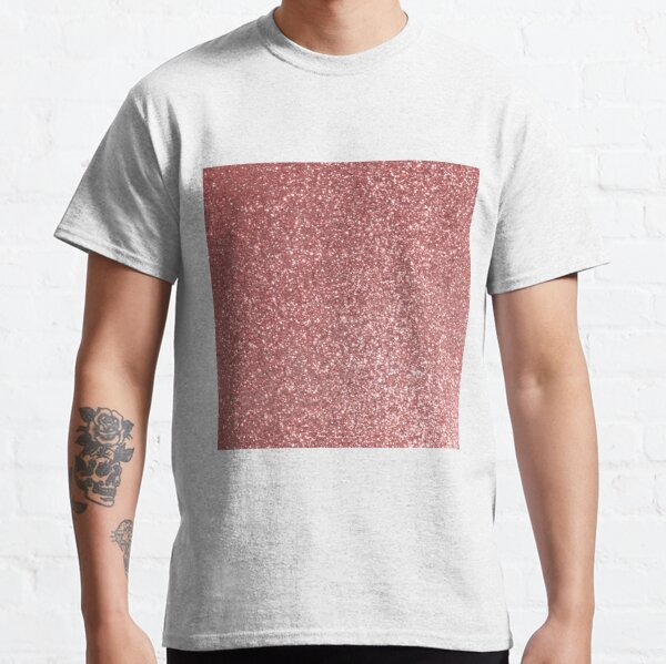 Blush Gold Rose Pink Shimmery Glitter Classic T-Shirt