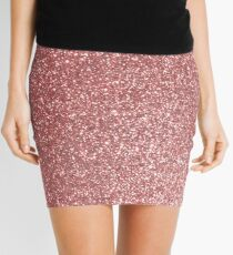 Blush Gold Rose Pink Shimmery Glitter Mini Skirt
