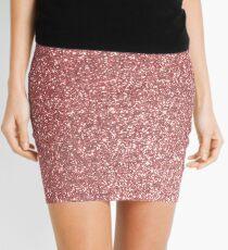 Blush Gold Rose Pink Shimmery Glitter Mini Skirt