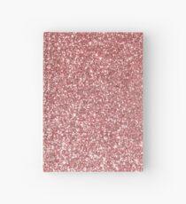 Blush Gold Rose Pink Shimmery Glitter Hardcover Journal