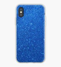 Night Sky Sparkly Blue Glitter iPhone Case