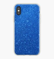Night Sky Sparkly Blue Glitter iPhone Case