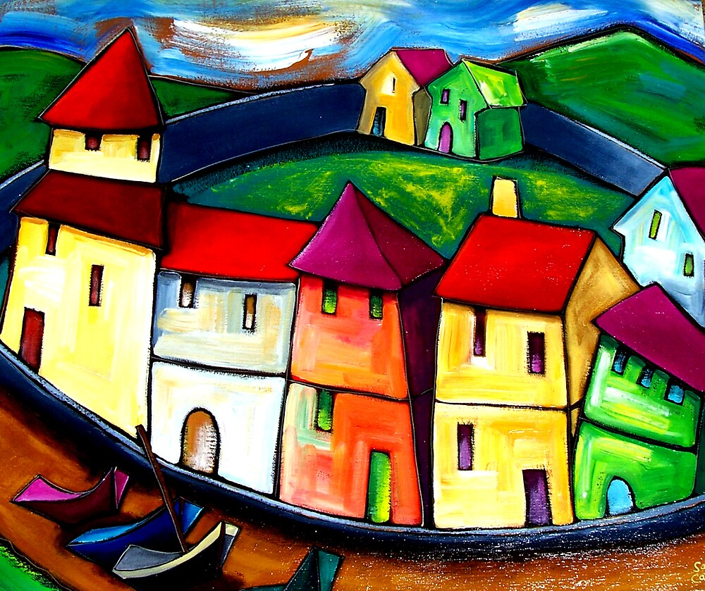 THE  OLD  CITY  OF  GOA. by ART PRINTS ONLINE         by artist SARA  CATENA