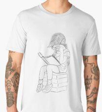Little girl and her book Men's Premium T-Shirt