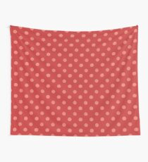 Dots Red Wall Tapestry