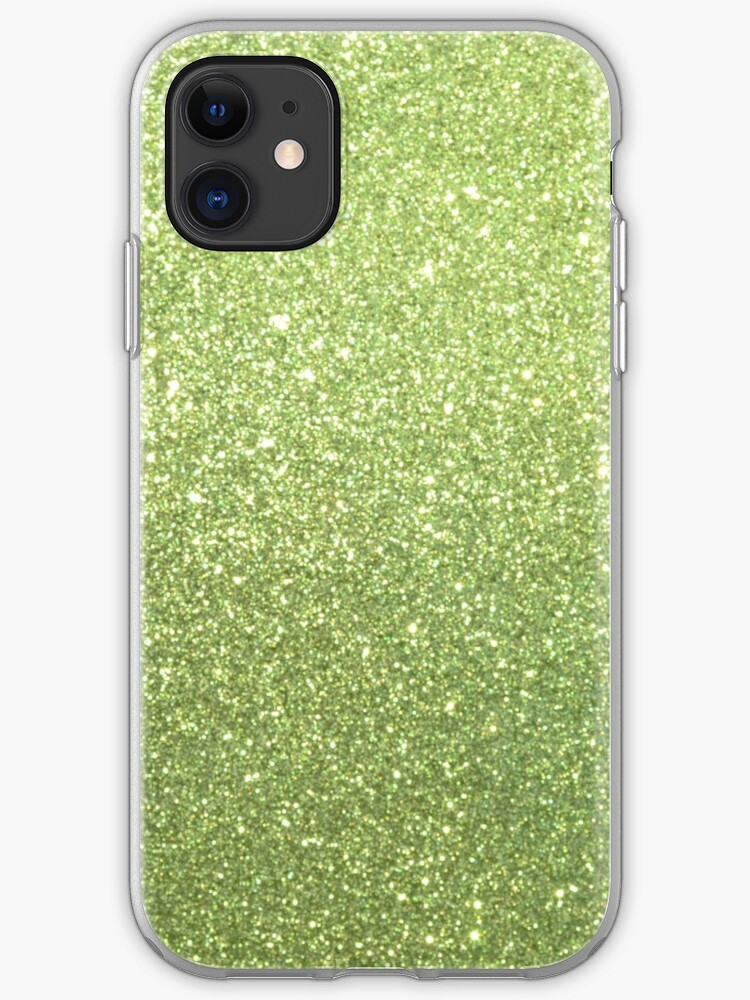 Beautiful Emerald Green glitter sparkles iphone 11 case