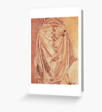 Draped in Gold Greeting Card