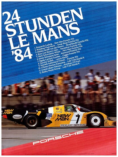 LE MANS : Vintage 1984 Auto Racing Prints by posterbobs