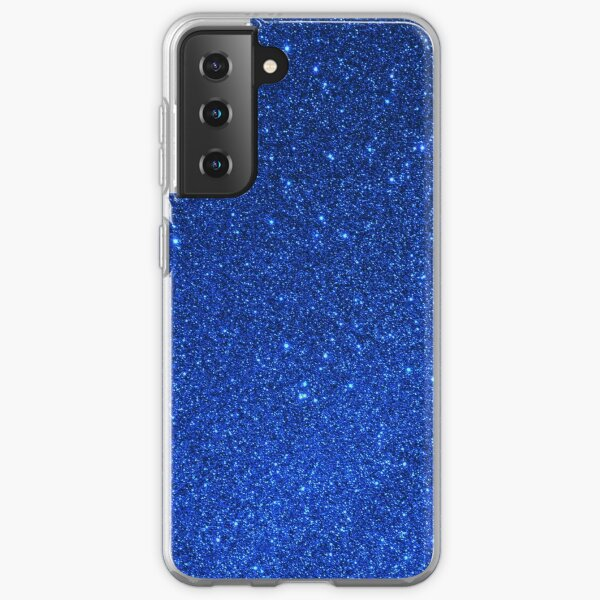 Sapphire September Libra Blue Birthstone Shimmering Glitter Samsung Galaxy Soft Case