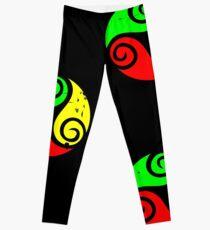 Reggae Flag Chilling Vibes - Cool Reggae Flag Colors Gifts Leggings