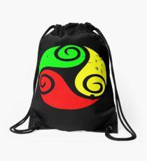 Reggae Flag Chilling Vibes - Cool Reggae Flag Colors Gifts Drawstring Bag